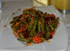 Spicy green bean lunch dish