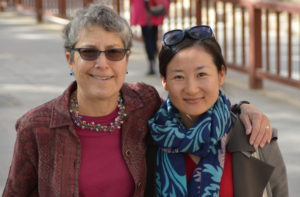 JoAnn and Lucy, our guide, at Mogao
