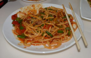 Spicy Noodle Lunch Dish